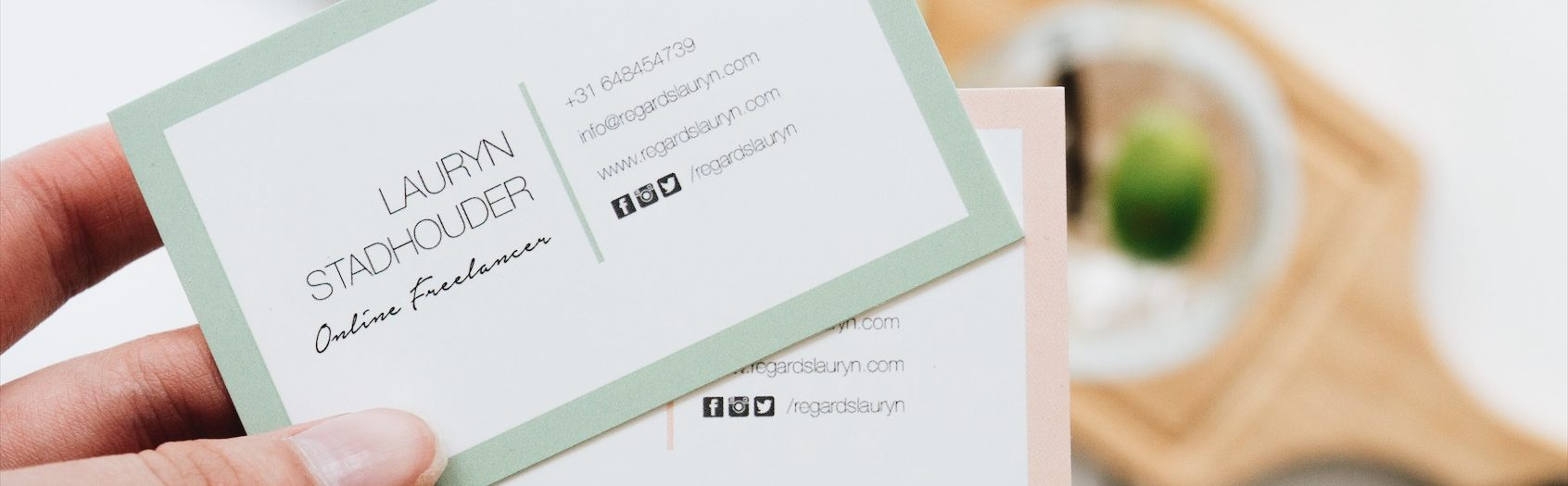 Happiness is: new business cards