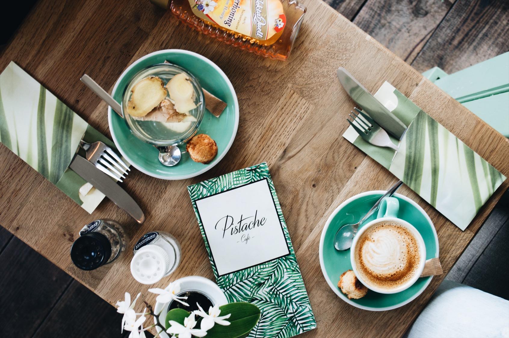 Just enjoying my cappuccino at Pistache Café. Love it!
